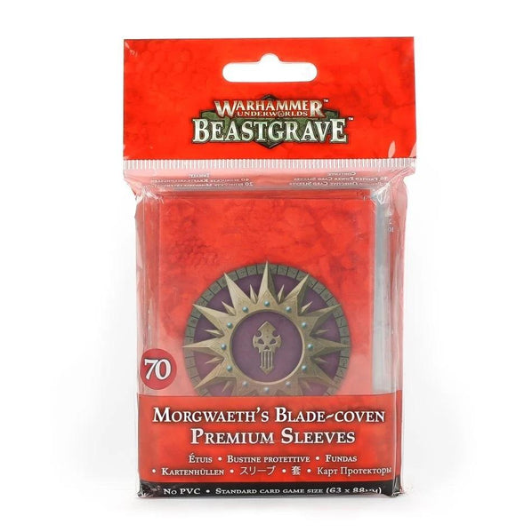 Whu: Morgwaeth'S Blade-Coven Crd Sleeves Underworlds Games Workshop