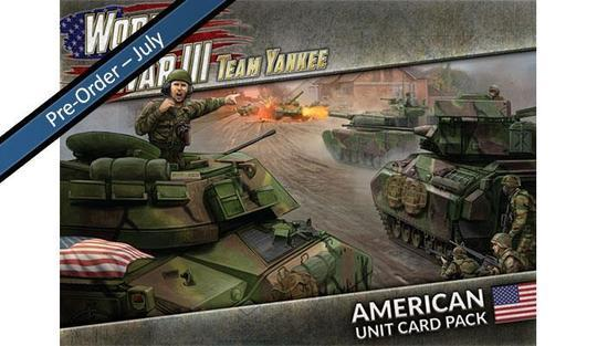 WW3-03U WWIII: American Unit Card Pack Team Yankee battlefront