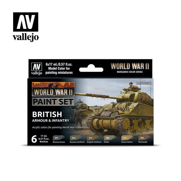 WWII British Armour & Infantry Set Paint Sets Vallejo