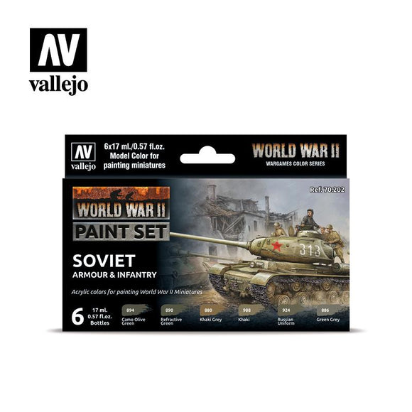 WWII Soviet Armour & Infantry Set Paint Sets Vallejo