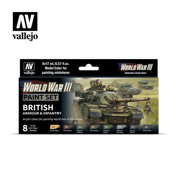 WWIII British Armour & Infantry Set Paint Sets Vallejo