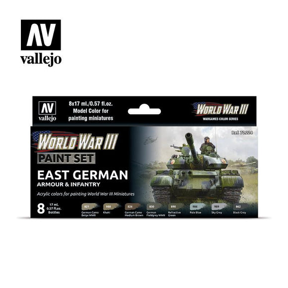 WWIII East German Armour & Infantry Set Paint Sets Vallejo
