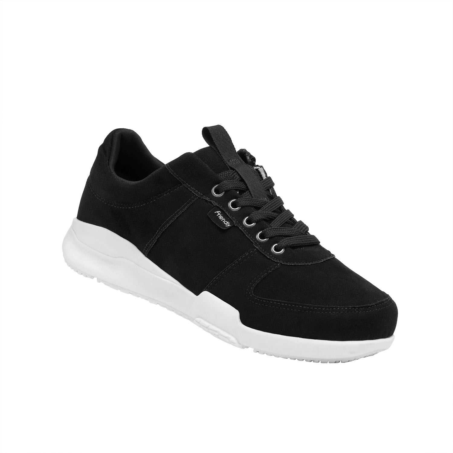 Men's Medimoto Low-Top / Midnight Black Micro-Suede Shoe