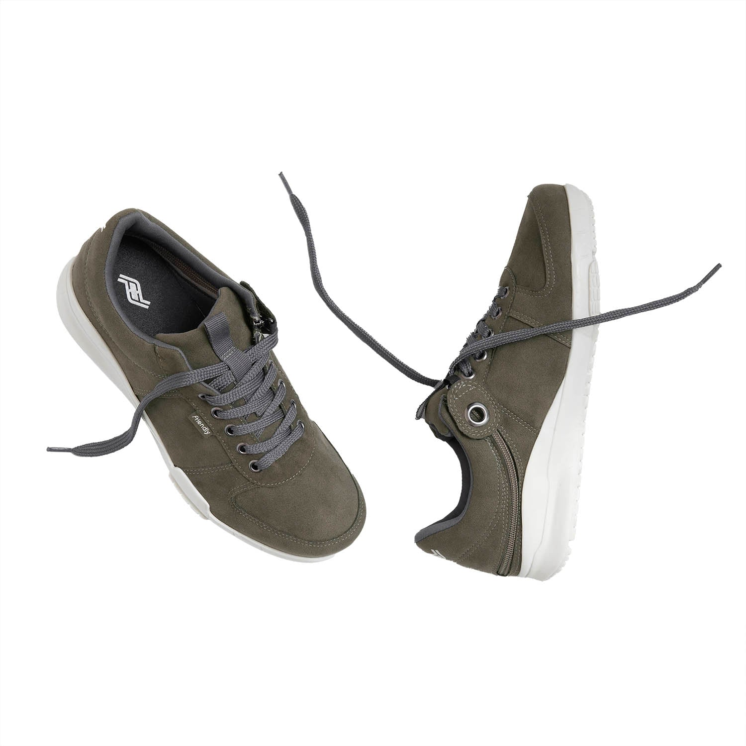 Men's Medimoto Low-Top / Steel Grey Micro-Suede Shoe