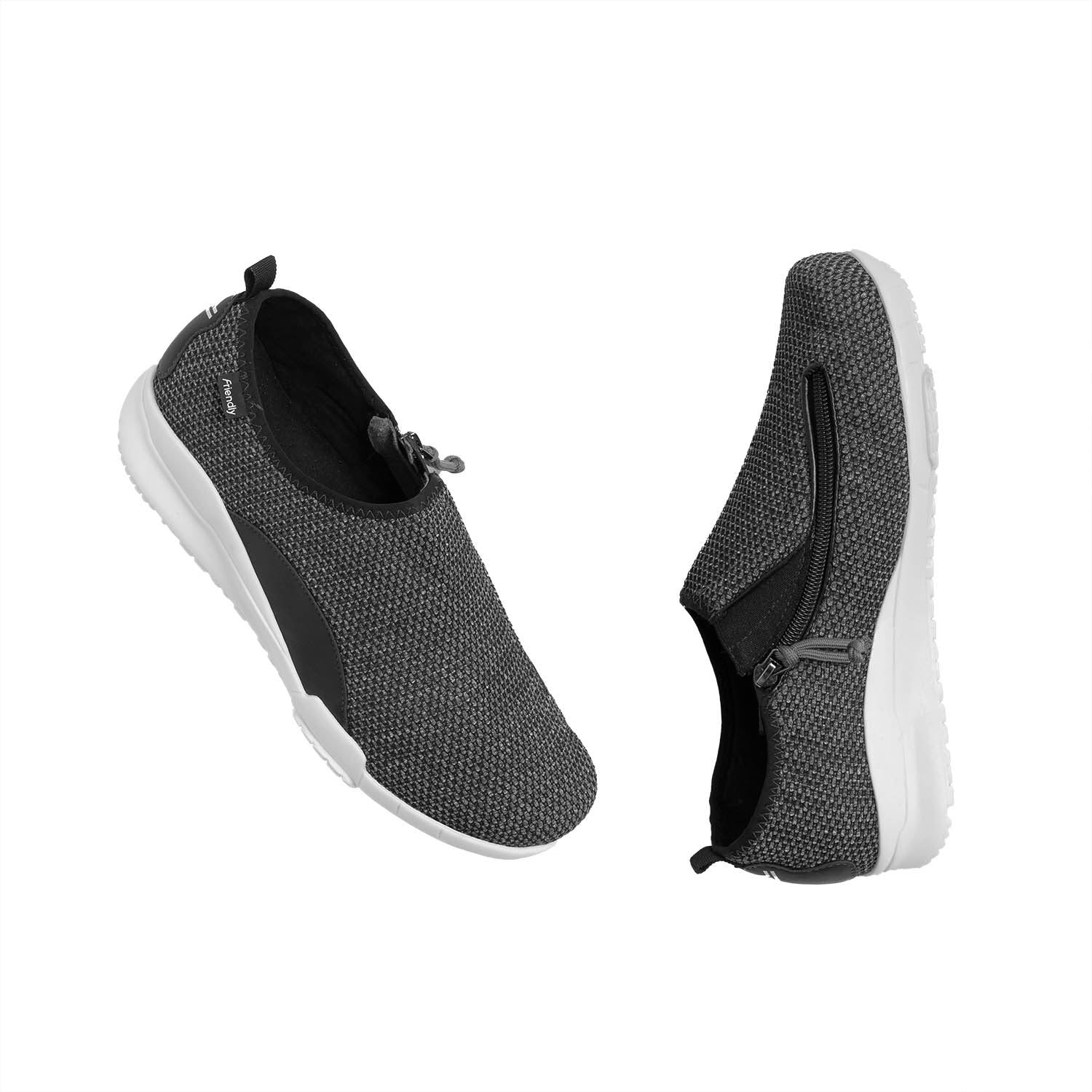 Men's Friendly Flex / Charcoal Fabric Shoe