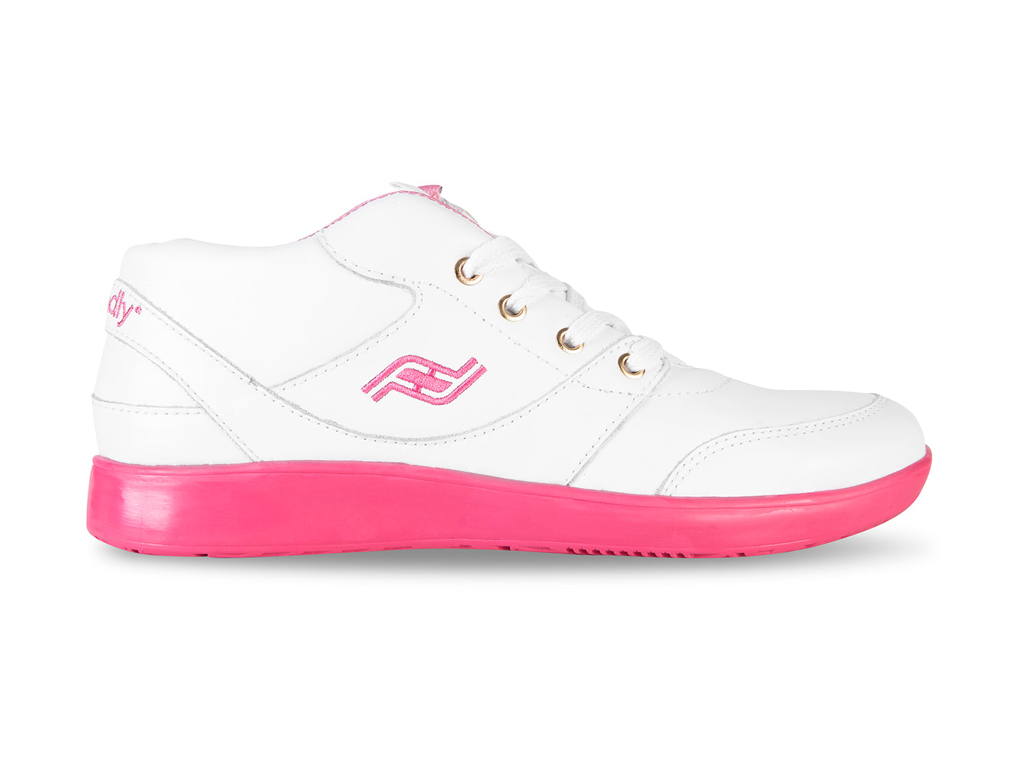 Women's Rose White Leather Shoe