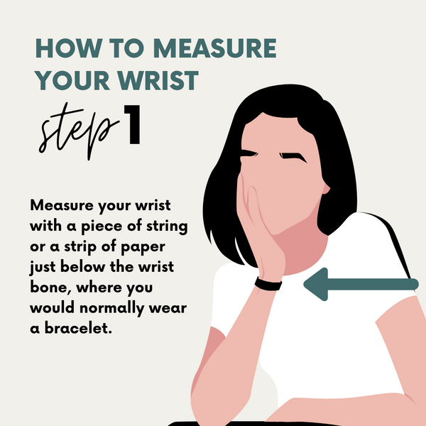 Use the string or paper just below the wrist bone
