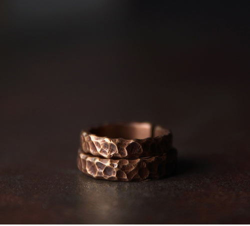 Hammered Healing Copper Ring - Tamba Copper Jewelry