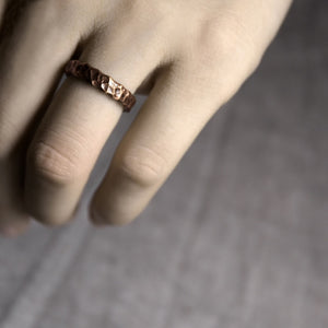 Hammered Copper Ring - Tamba Copper Jewelry