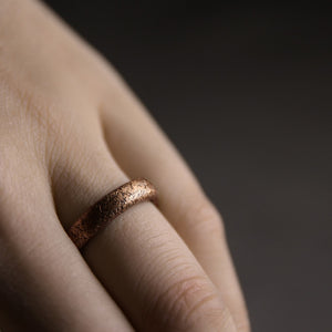 Textured Copper Ring - Tamba Copper Jewelry