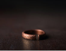 Load image into Gallery viewer, Textured Copper Ring - Tamba Copper Jewelry