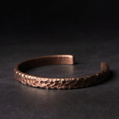 Resizable Hammered Copper Metal Cuff - Tamba Copper Jewelry