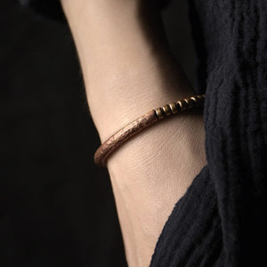 Handmade Hammered Pure Copper Bracelet - Tamba Copper Jewelry