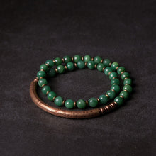 Load image into Gallery viewer, Green Jade Copper Bracelet
