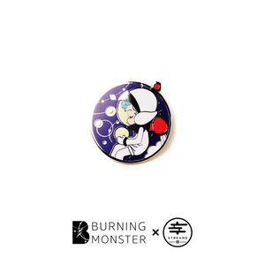 Burning Monster PINS Astronaut version