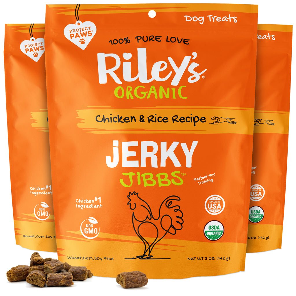 3-Pack 5oz Organic Chicken & Rice Jerky Jibbs