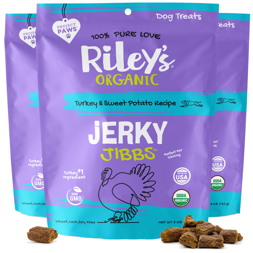 3-Pack 5oz Organic Turkey & Sweet Potato Jerky Jibbs