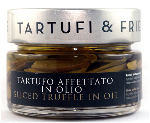 Sliced truffle in oil