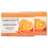 Orange Squeeze Refreshing Soap Bar (Pack of 2)
