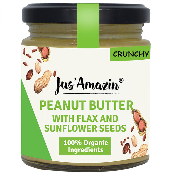 Crunchy Peanut Butter - Sweet 'N' Salty (Crunchy Organic Flax and Sunflower Seeds)