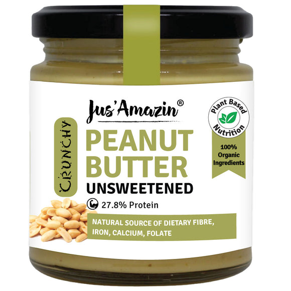 Crunchy Organic Peanut Butter - Unsweetened (200g)