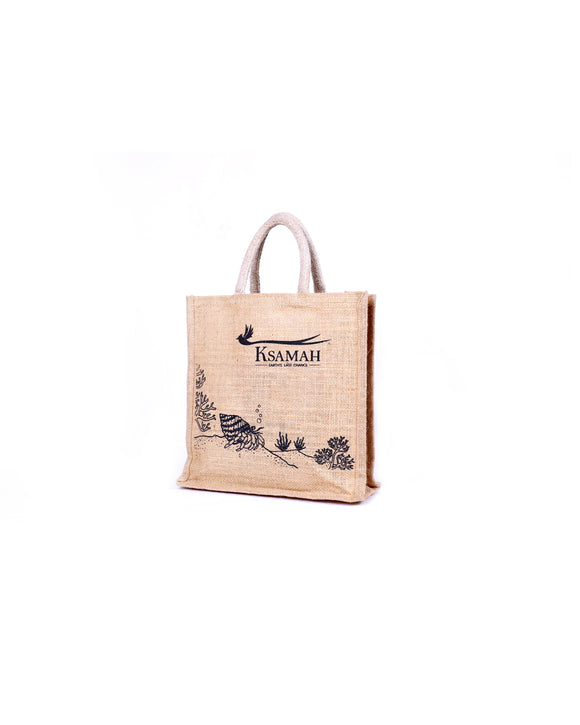 Eco-Friendly Jute Lunch Tote Bag