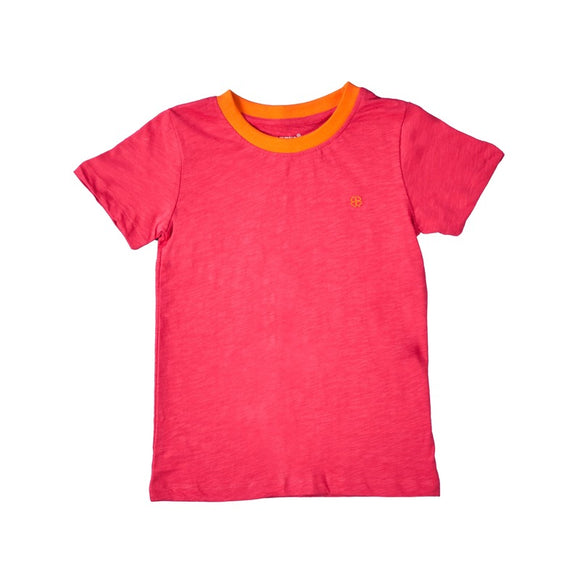 Coral Playtime Tshirt With Half Sleeves