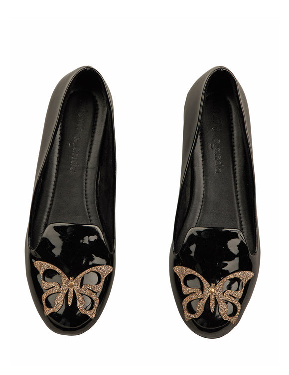 Butterfly Loafers Black
