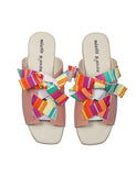 Ribbon Tie sandals pink