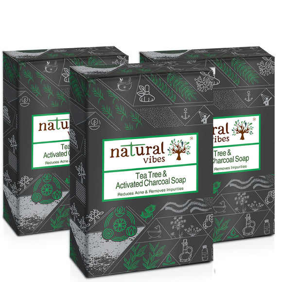NV charcoal soap pack of 3