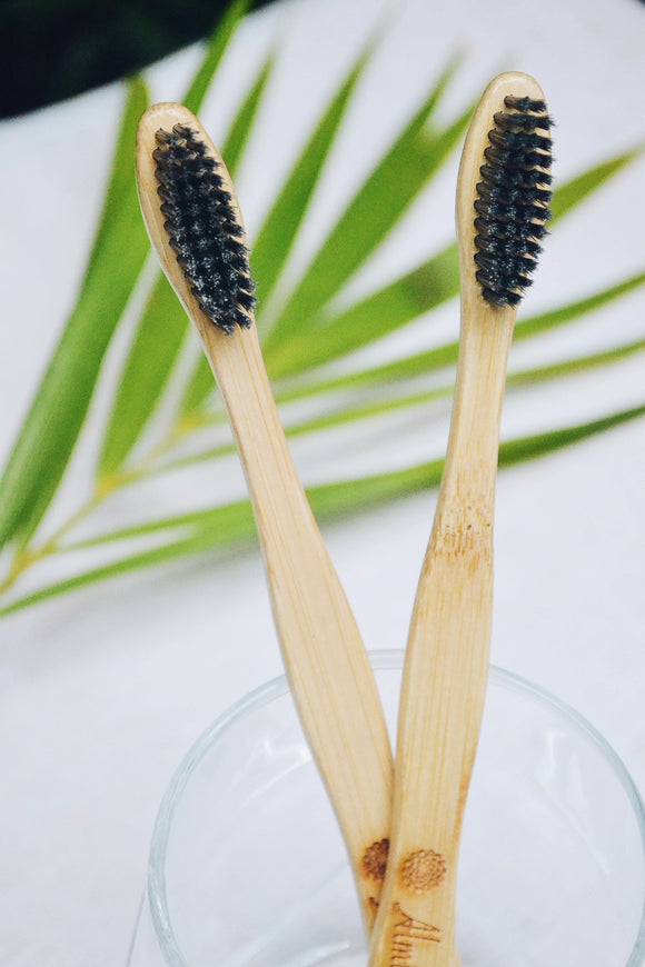 Bamboo Toothbrush Charcoal Infused