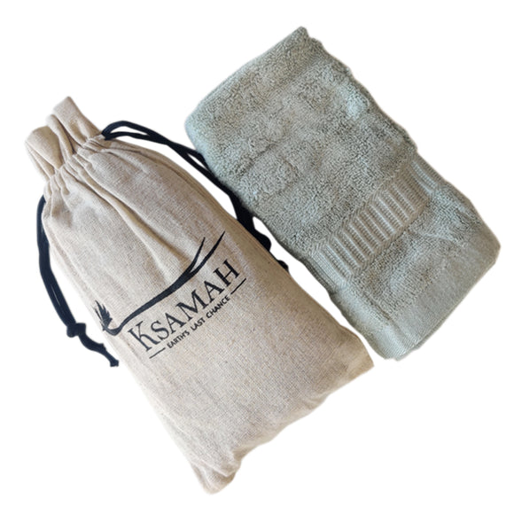 Eco-Friendly Bamboo Hand Towel Green Colour
