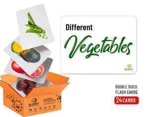 Vegetables Baby Flash Cards 24 Cards