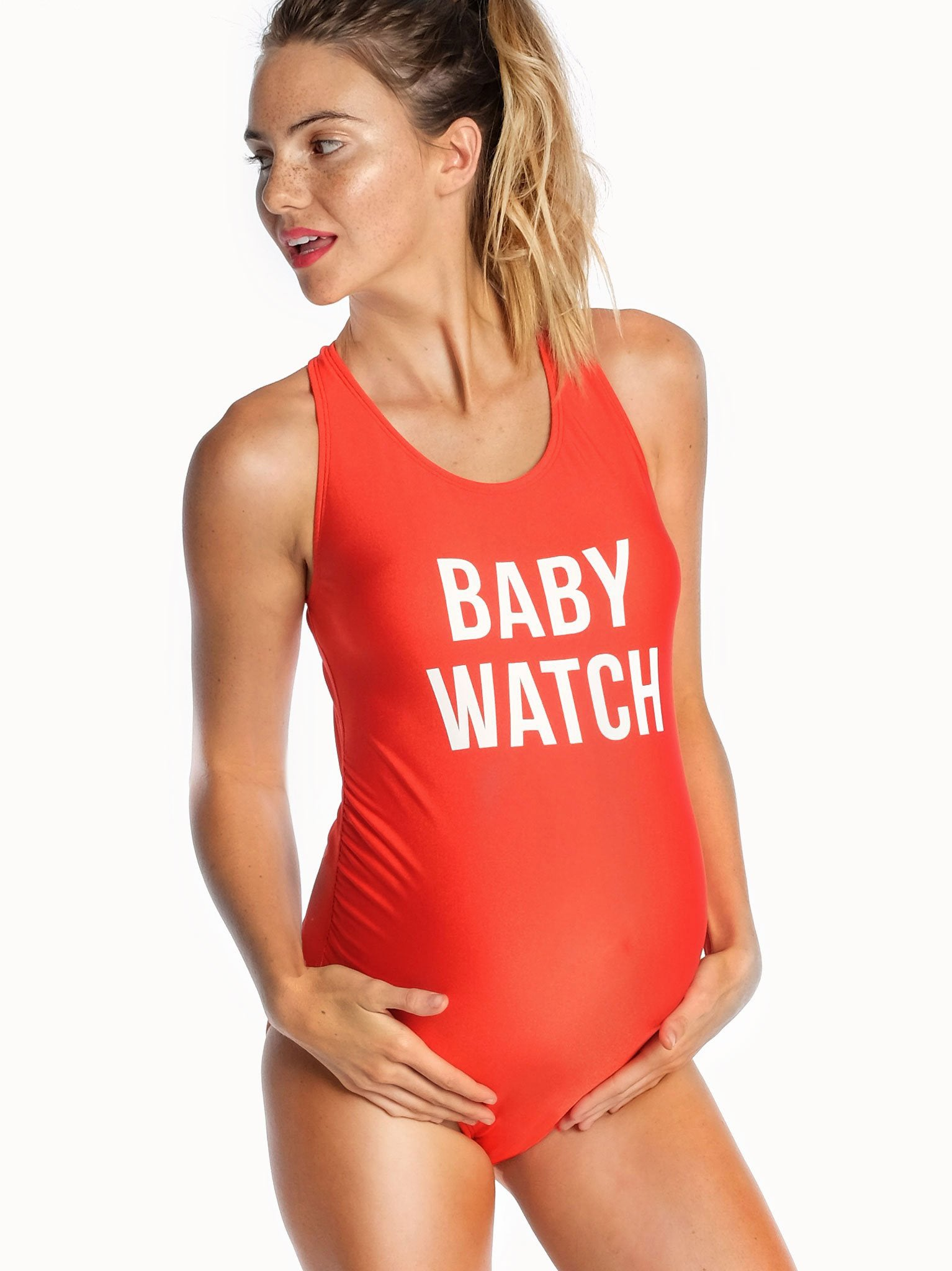 "Baby Play suit /""Life Guard/"" Baby life guard Funny Baby Baywatch Baby Grow"