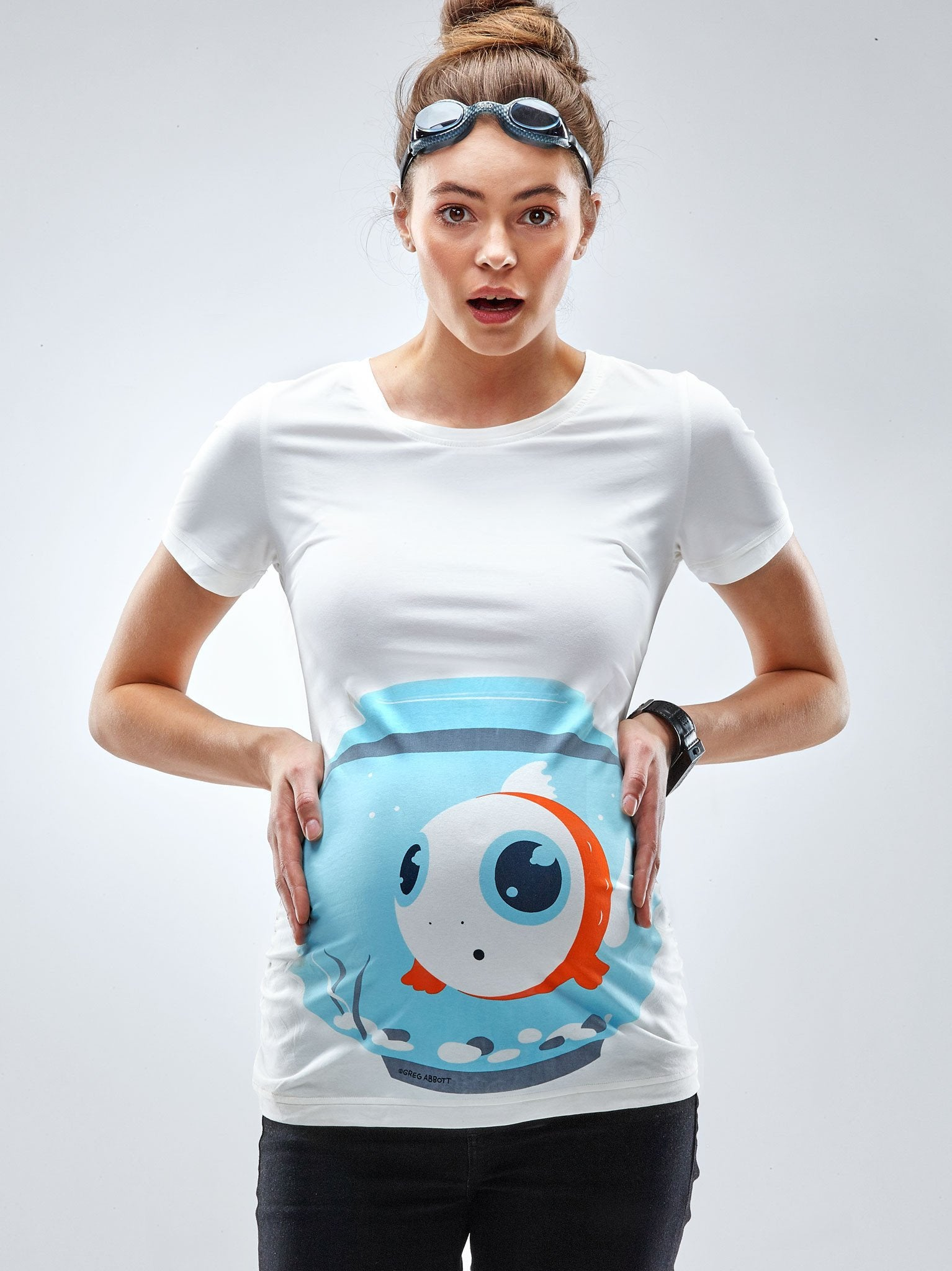 """Fish Bowl"" Maternity T-Shirt"