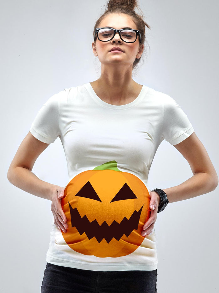 A Pumpkin Bump Maternity Halloween T-shirt