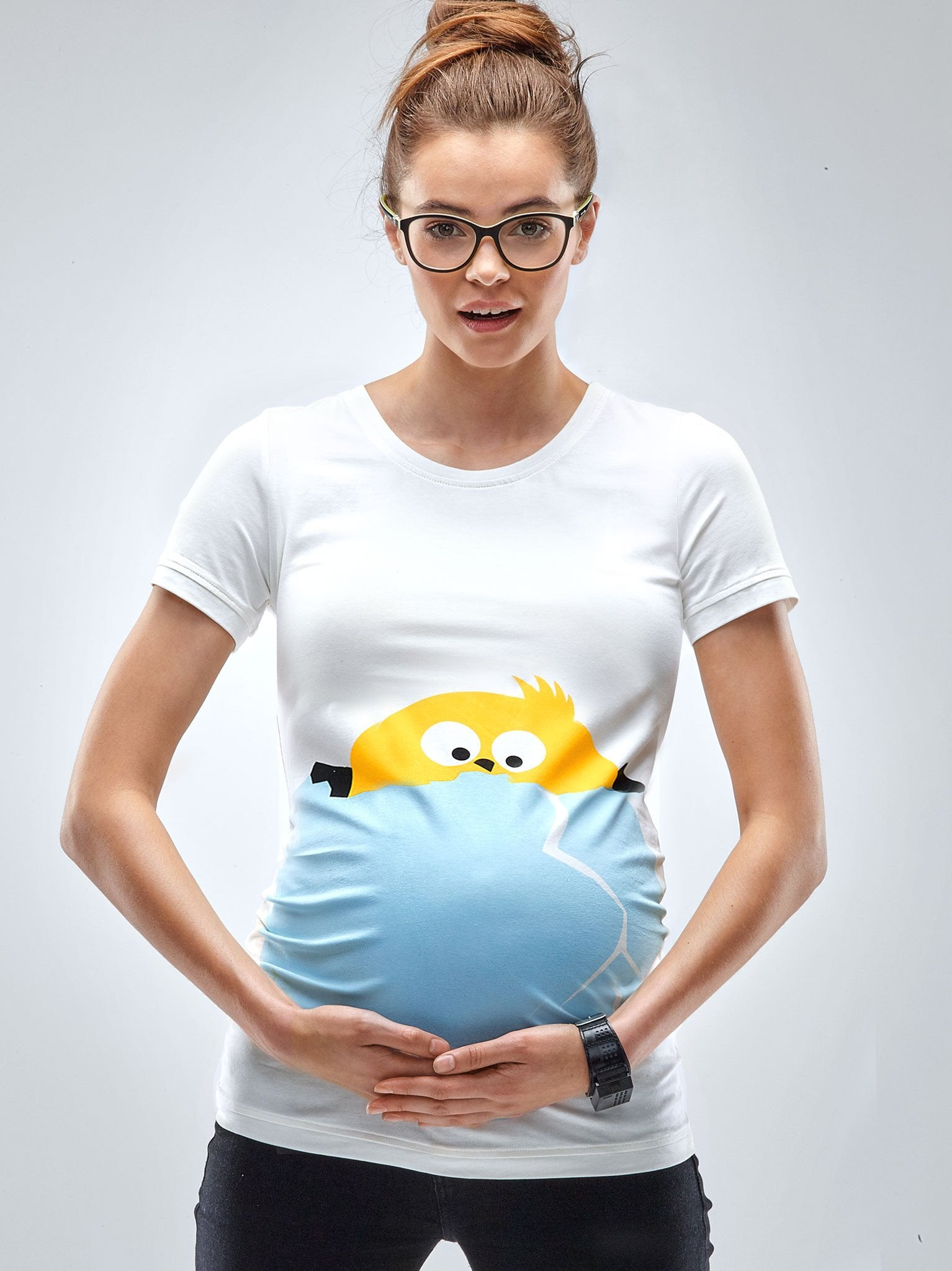 Easter Peek A Boo Chicken Maternity T-Shirt