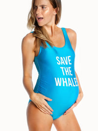 Save the Whales Maternity Swimwear