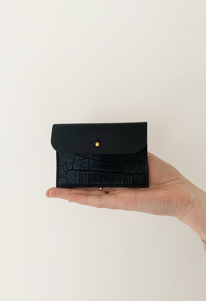 Black Croc Coin Purse - Noted x Williams