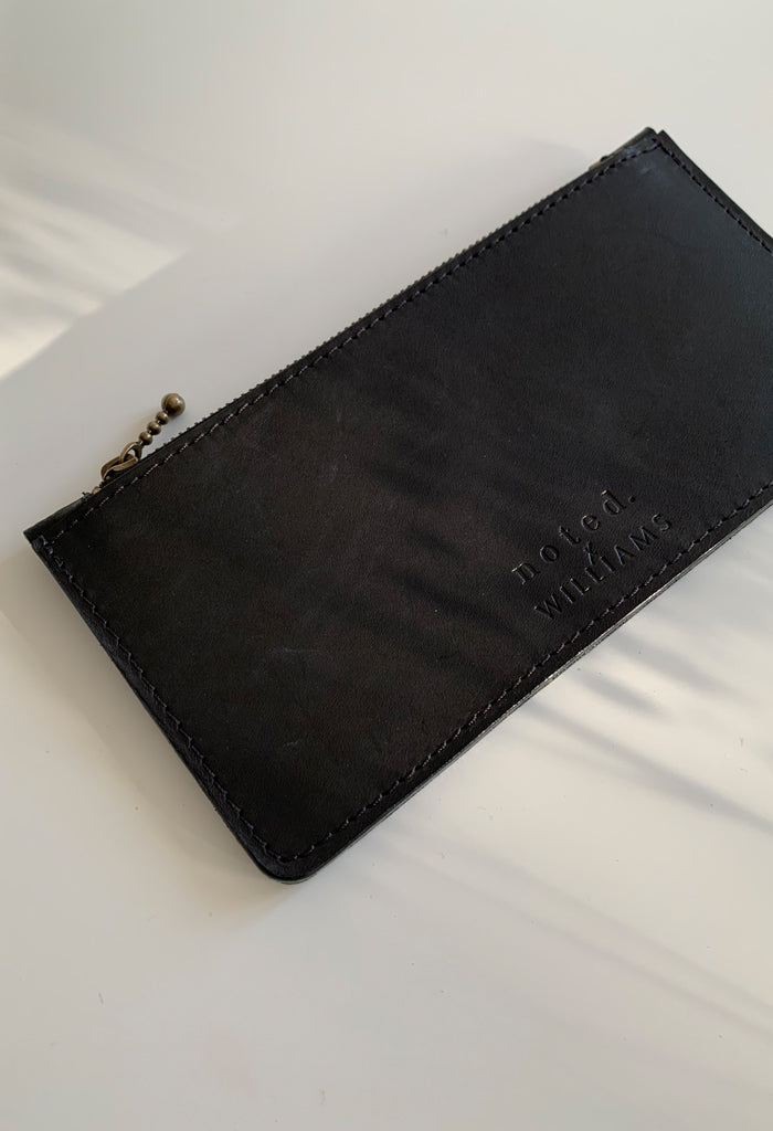 Black Croc Zip Purse - Noted x Williams