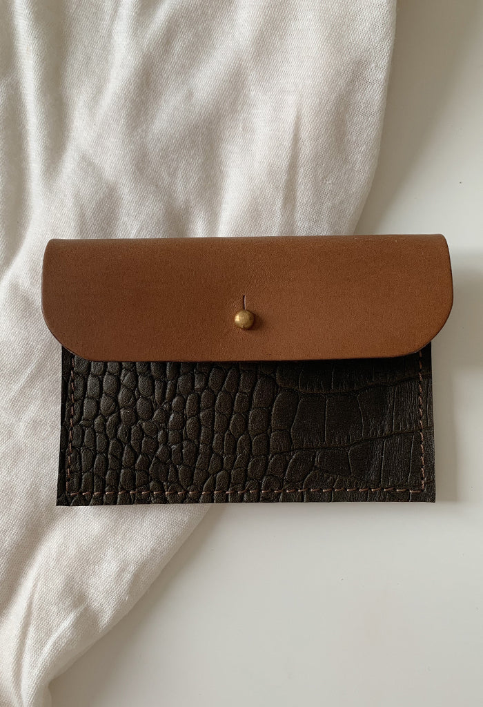 Green Croc Coin Purse - Noted x Williams