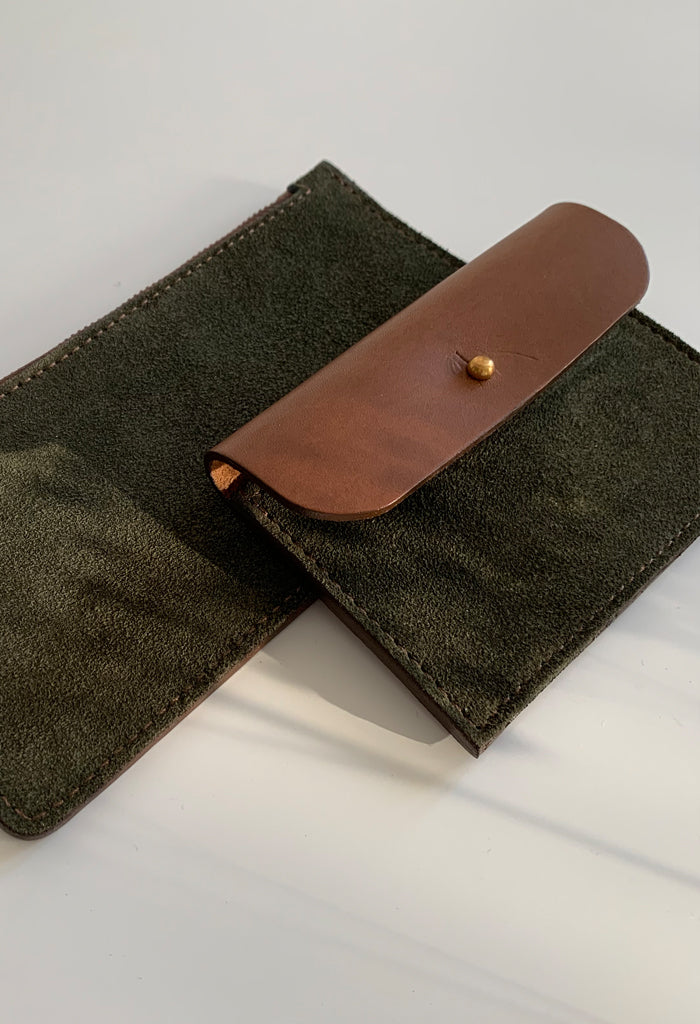 Green Suede Coin Purse - Noted x Williams