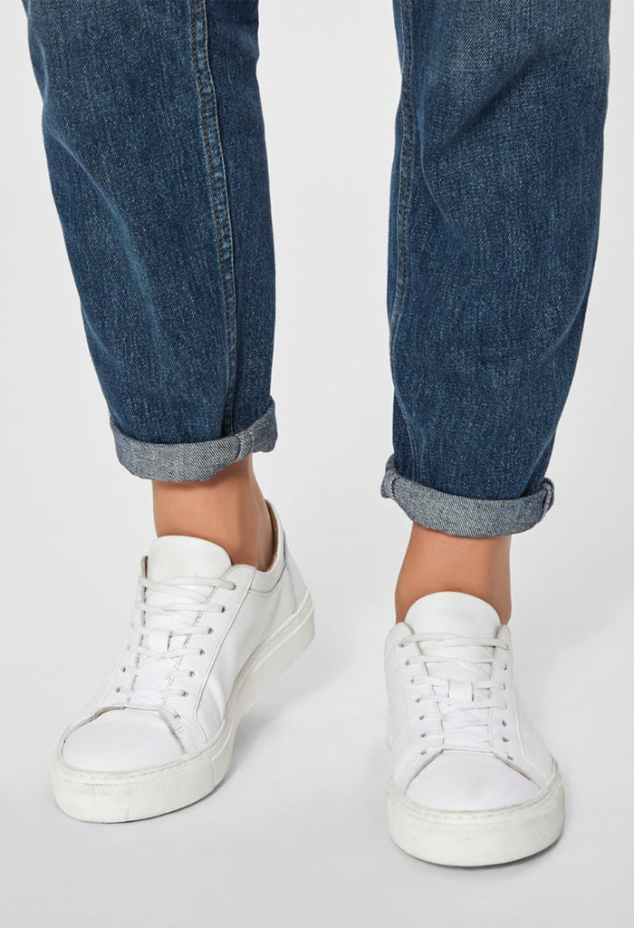 Selected Femme Donna sneaker white on model front