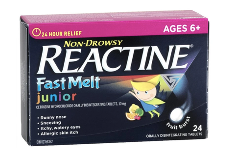 Non-drowsy Reactine Fast Melt for kids
