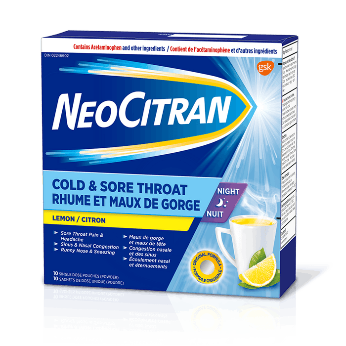 NEOCITRAN COLD & SORE THROAT    10'S