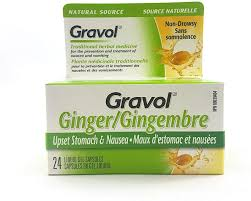 GRAVOL LIQUID GEL GINGER 500MG  24'S