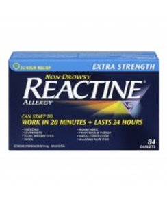 REACTINE TABS X-STR             84'S