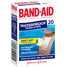 BAND-AID TOUGH STRIP WATERPROOF 20'S