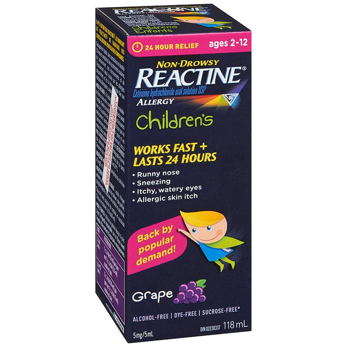 REACTINE CHILDREN'S GRAPE      118ML