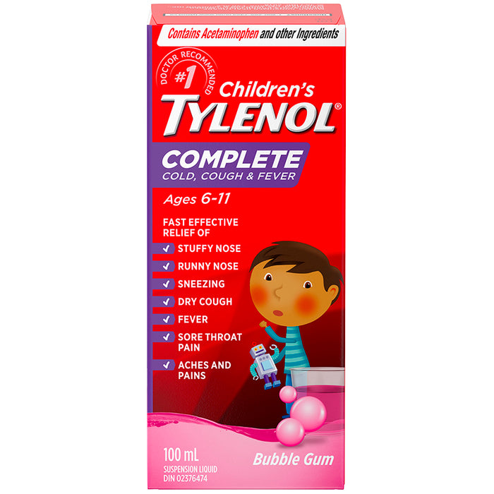 TYLENOL COMP CHILD COUGH&FEVER 100ML